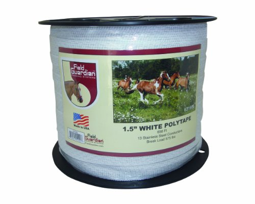 Heavy Electric Fence Wire - Field Guardian Polytape, 1.5-Inch, White