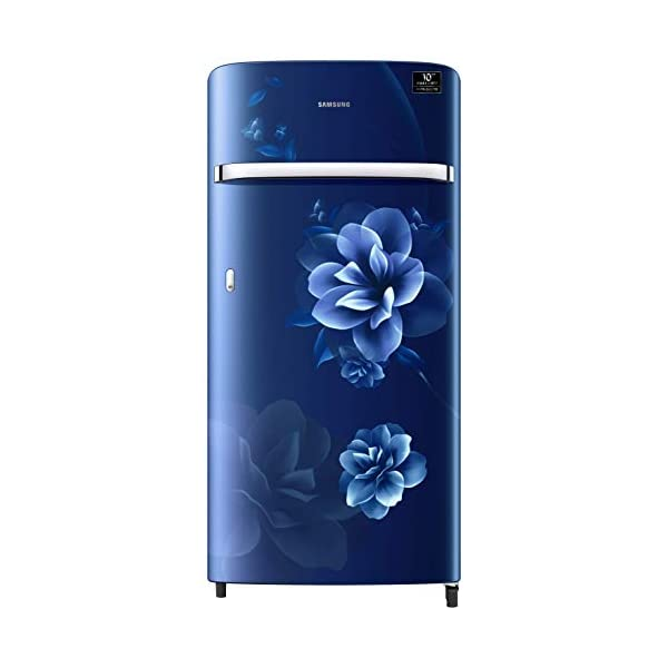 Samsung 198 L 4 Star Inverter Direct-Cool Single Door Refrigerator (RR21T2G2XCU/HL, Camellia Blue) 2021 July Direct-cool refrigerator : Economical and Cooling without fluctuation Capacity 198 liters: Suitable for families with 2 to 3 members and bachelors Energy rating 4 Star : high efficiency model