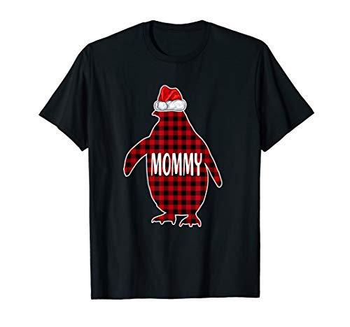 Mommy Penguin Hat Santa Matching Christmas Family Pajama Tee