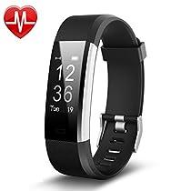 Fitness Tracker,YAMAY Orologio Fitness Activity Tracker Cardio Impermeabile IP67 Smartwatch Cardiofrequenzimetro da Polso Contapassi Braccialetto Pedometro Smart Watch per Uomo Donna per Android e iOS