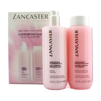 Lancaster - Limited Edition Set: Cleansing Milk 400ml + Toner 400ml (For Dry Skin) - 2pcs