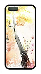 Drawings Of Autumn TPU Case Cover for iPhone 5 and iPhone 5s Black