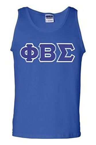 Phi Beta Sigma Fraternity Men's Greek Lettered Tank Top T-Shirt XX-Large Royal Blue - Phi Beta Sigma Merchandise