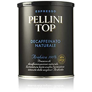 Pellini Caffè, Pellini Top Arabica 100% Per Moka Decaffeinato Naturale, 1 Barattolo da 250 gr, Totale  250gr