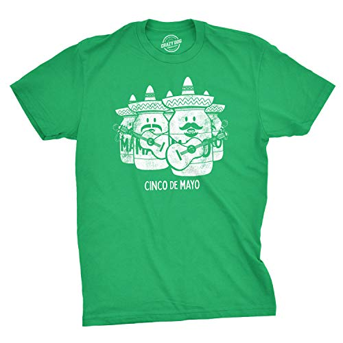 Mens Cinco De May Tshirt Funny Mayonnaise Mariachi Tee (Green) - 5XL]()