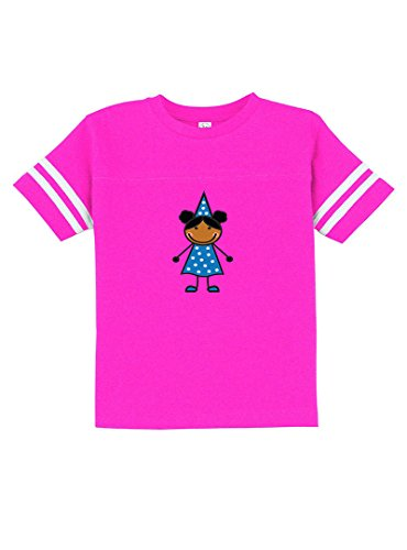 Black Girl In Carnival Costume Toddler Football Fine Jersey Tee Hot Pink (Hot Girl In Football Jersey)