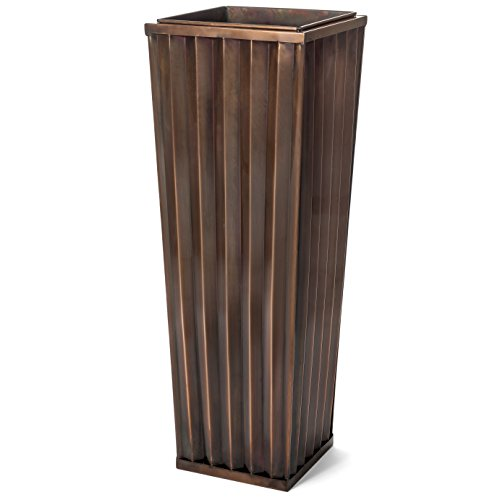 large outdoor copper planters - 2