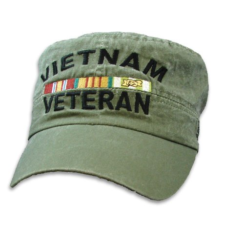 Vietnam Veteran Flat Top OD Green Low Profile Cap