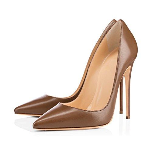 On Braun Damen Pumps Pumps Heel Classic Slip Pumps Spitzschuh Onlymaker High Stilettos High Heel Pumps Pumps YZ4wqCw