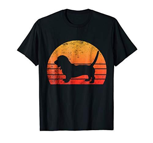 Basset Hound Dog Shirt Retro Vintage 70s Silhouette