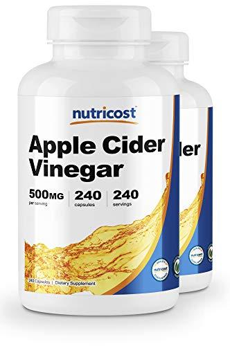 Nutricost Apple Cider Vinegar 500mg, 240 Veggie Capsules (2 Bottles)
