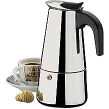 Cafeteira tipo Italiana em Inox - café espresso 9 xícaras