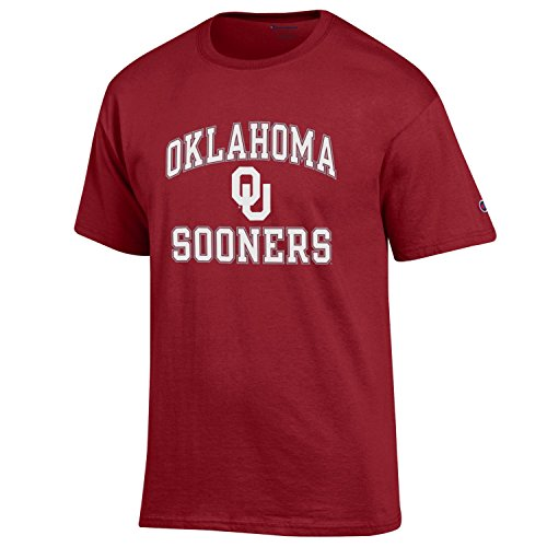 Champion NCAA Oklahoma Sooners Men's Classic Graphic Short Sleeve Tee, Large, Cardinal