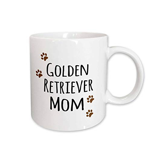 3dRose 154126_2 Golden Retriever Dog Mom Mug, 15 oz, ()