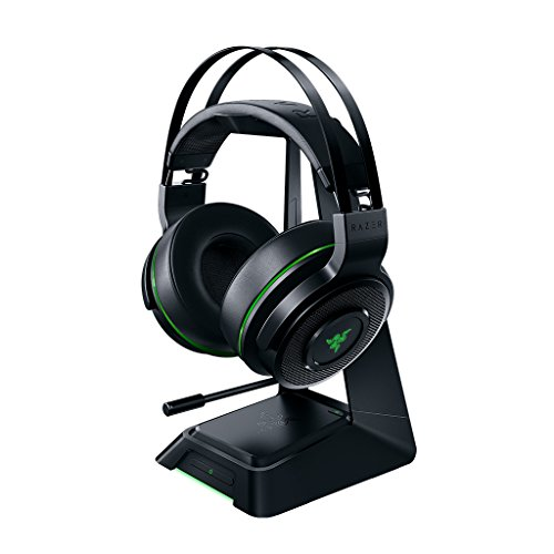 (Razer Thresher Ultimate for Xbox One: Dolby 7.1 Surround Sound - Lag-Free Wireless Connection - Retractable Digital Microphone-Base Station Wireless Receiver - Gaming Headset Works with PC & Xbox One)