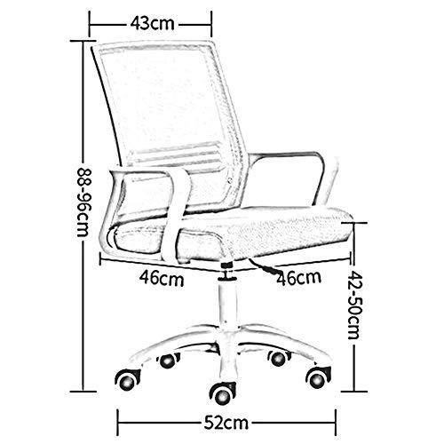 DBL tjock explosionssäker platta robust konstruktion modernt utseende konferensstol bord andningsbara nät skrivbordsstolar (färg: svart)