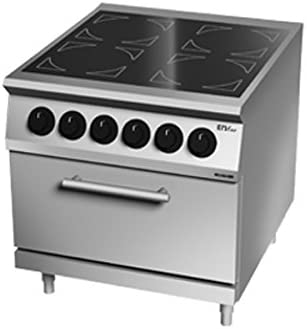 Cocina vitrocerámica 4 placas sobre horno eléctrico 80 x 90 x ...