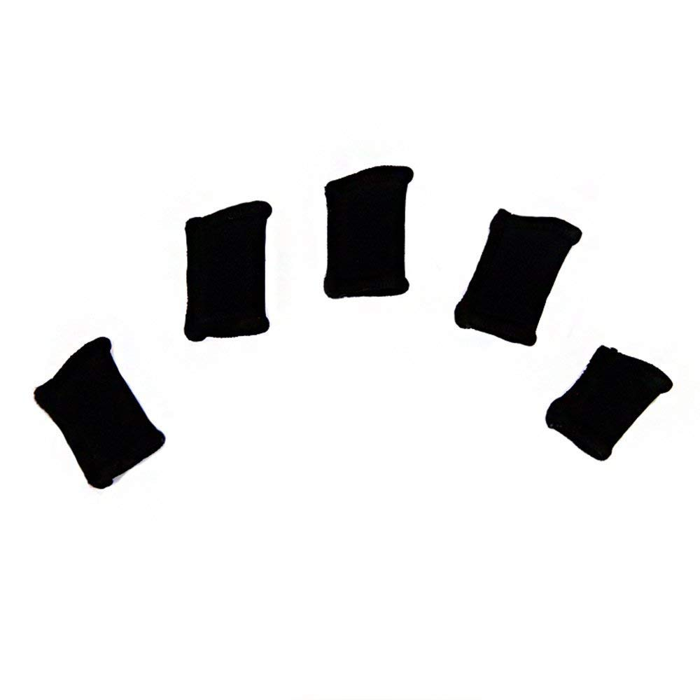 SunnyClover Elastic Finger Sleeve Cover Nylon Finger Protector Sleeve Support Stretchy Protection Gloves Finger Guard for Outdoor Sports Black 10 Pcs