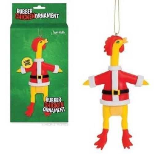 Accoutrements Santa Rubber Chicken Ornament