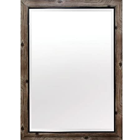 Yosemite Home Decor MINT011 Framed Mirror Large Gray Wood