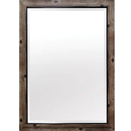 Yosemite Home Decor MINT011 Framed Mirror Large Gray Wood