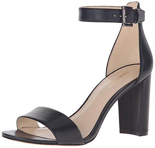 Nine West WomenS Nora Leather Dress Sandal, Negro, 36 B(M) EU/4 B(M) UK