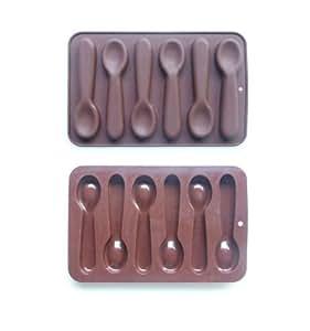 Molde para chocolate silicona hogar - Moldes silicona amazon ...