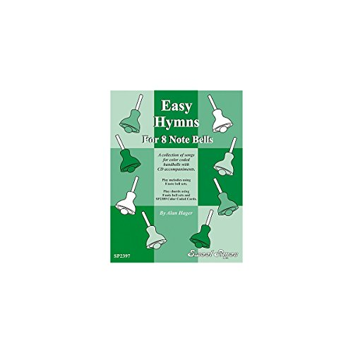 Sweet Pipes SP2397 Easy Hymns for 8 Note Handbells, BOOK AND CD (Sheet Rhythm Music)