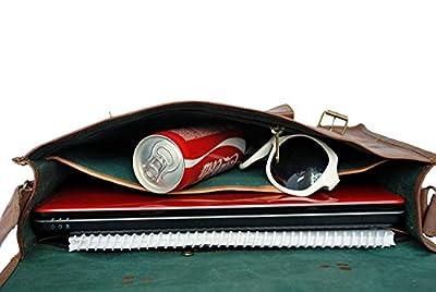 15 Inch Rustic Vintage Leather Messenger Bag Laptop Bag Briefcase Satchel Bag