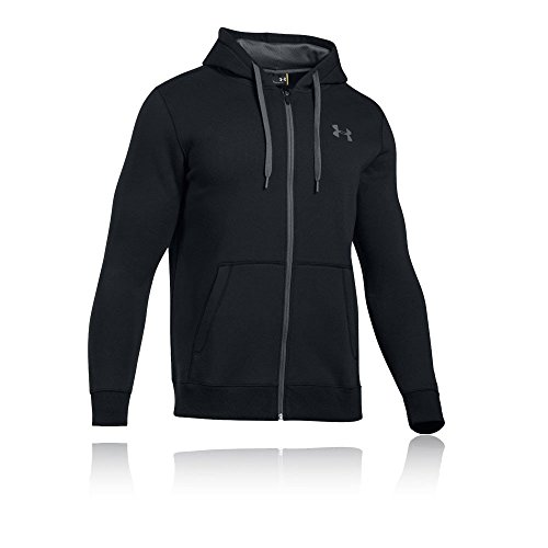 (Under Armour Men's Rival Fleece Fitted Full Zip Hoodie,Black /Graphite, Small)