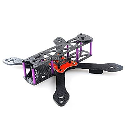 Crazepony Martian II RX255 FPV Racing Drone Carbon Fiber Quadcopter Frame Like QAV250 etc (4MM): Toys & Games