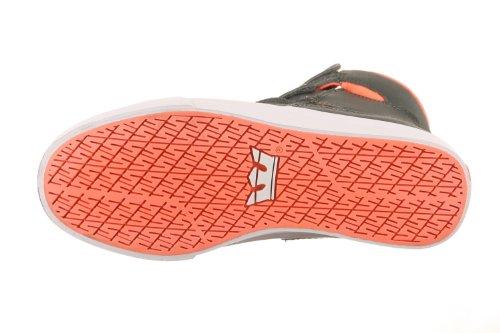 SUPRA Shoes SOCIETY CHARCOAL/WHITE-NEON ORANGE gris
