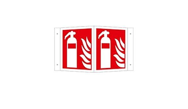 Cartel extintor Brand Schut ángulo de caracteres sobre ...