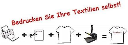 20 unidades de lámina de transferencia para camisetas A3 de tela oscura.: Amazon.es: Hogar