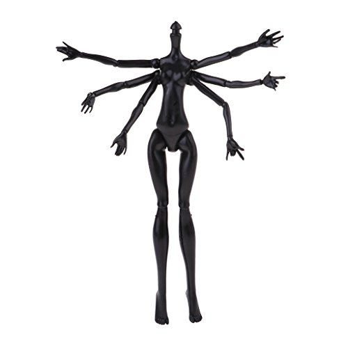 Fityle Black Spider Shape 22 Joint Doll Body Without, used for sale  Delivered anywhere in USA