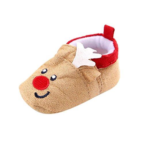Zapatos Bebé,Xinantime Zapato Alces de Navidad Zapatillas para Niños Niñas Invierno (17)
