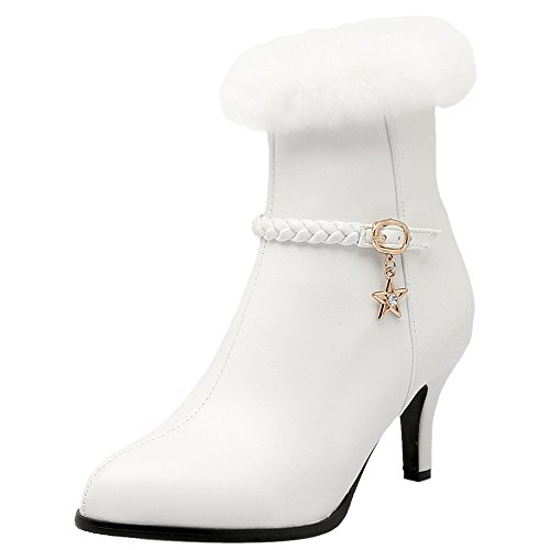 Femmes Vulusvalas Bottillons Mode Fermeture Éclair Blanc