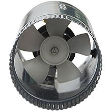 Homgrace 4 Inch 100 CFM High Speed Round Shape Stainless Steel Inline Duct Booster Fan Extractor Fan Dryer Vent (4 inch Fan)