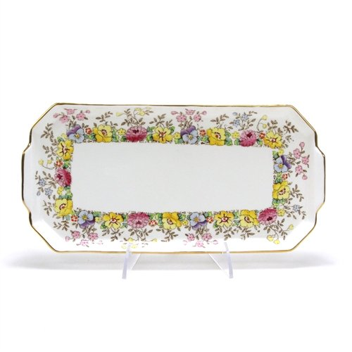 Vanity Tray by Crown Staffordshire, China, Floral Design
