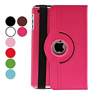 Rotatable Leather Case with Stand for iPad mini (Assorted Colors) , Red