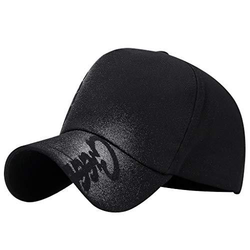 iLXHD Unisex Baseball Cap Fashion Military Style Soild Colors Flat Cap Vintage Sport Sun Hat Trucker Cap Black