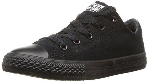 (Converse Girls' Chuck Taylor All Star Madison Sneaker, Black, 1 M US Little Kid)