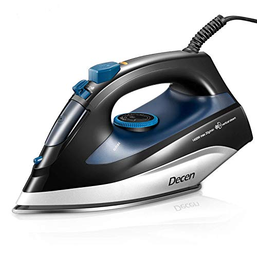 DECEN Iron, Clothes Iron with Variable Temperature and Steam
