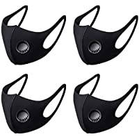 4 stuks zwart OV-Mask | Wasbaar Mondkapje | Openbaar Vervoer | gezicht modificatie -wasbare mondkapje-Masker met…