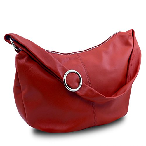 Tuscany Leather Yvette Borsa in pelle da donna Beige Rosso