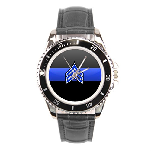 Percentage Mens Police Thin Blue Line Wrist Watch