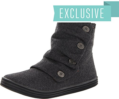 Blowfish Rabbit Women Round Toe Canvas Gray Boot (8 B(M) US, Grey 2 Tone Flannel)