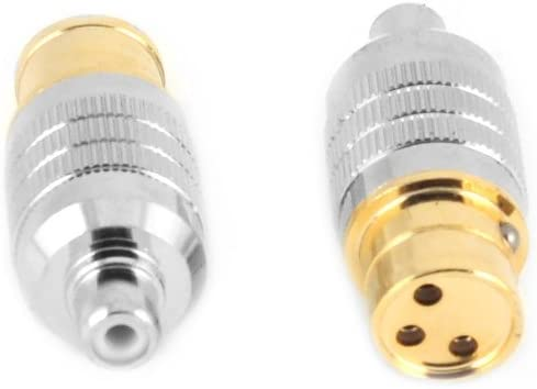 FRCA-MXLR Connectors Female RCA to Male XLR Adapter Plugs Pair CARDAS AUDIO