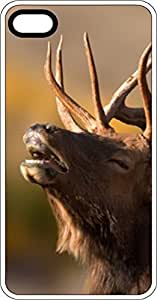 Snorting Elk Buck White Rubber Case for Apple iPhone 4 or iPhone 4s