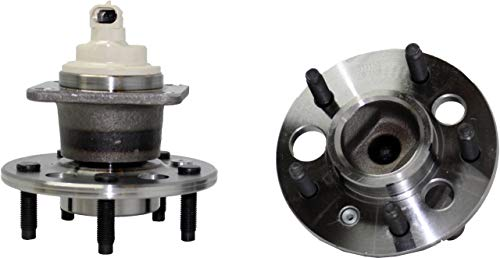 Detroit Axle – Rear Wheel Bearing and Hub Assemblies Pair Replacement Part for [Impala, Grand Prix, Allure, Regal, Monte Carlo] [FWD Aztek, Uplander, Relay, Montana, Venture] | 512150